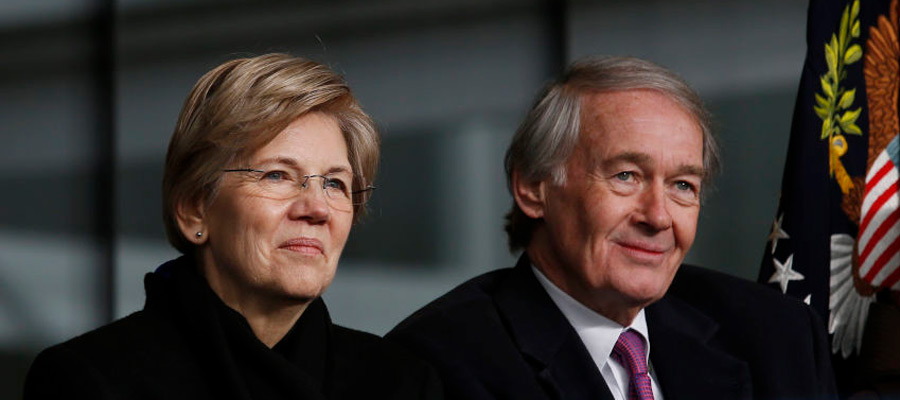 Elizabeth Warren a Ed Markey, senátoři za Massachusetts